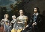 The Duke of Buckingham and his Family, after Gerrit van Honthorst, circa 1628, based on a work of 1628 - NPG  - © National Portrait Gallery, London