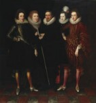 The 1st Earl of Monmouth and his family, attributed to Paul van Somer, circa 1617 - NPG  - © National Portrait Gallery, London