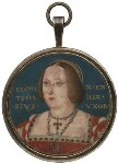 Katherine of Aragon, attributed to Lucas Horenbout (or Hornebolte), circa 1525 - NPG  - © National Portrait Gallery, London