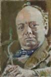Winston Churchill, by Walter Richard Sickert, 1927 - NPG  - © National Portrait Gallery, London