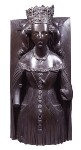 Joanna of Navarre, by Elkington & Co, cast by  Domenico Brucciani, after  Unknown artist, 1875, based on a work of circa 1408-1427 - NPG  - © National Portrait Gallery, London