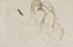 Unknown woman, formerly known as Jane Morris (née Burden), by Richard Doyle,  - NPG  - © National Portrait Gallery, London