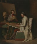 John Hamilton Mortimer with a student, after John Hamilton Mortimer, circa 1765 - NPG  - © National Portrait Gallery, London