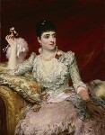 Adelina Patti, by James Sant, exhibited 1886 - NPG  - © National Portrait Gallery, London