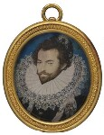 Sir Walter Ralegh (Raleigh), by Nicholas Hilliard, circa 1585 - NPG  - © National Portrait Gallery, London