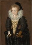 Unknown woman, possibly Lady Arabella Stuart, by Unknown artist, circa 1595-1600 - NPG  - © National Portrait Gallery, London