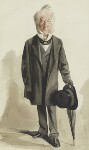 Spencer Horatio Walpole, by Adriano Cecioni, published in Vanity Fair 10 February 1872 - NPG  - © National Portrait Gallery, London