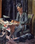 Leonard Sidney Woolf, by Vanessa Bell (née Stephen), 1940 - NPG  - © National Portrait Gallery, London