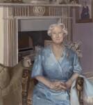 Queen Elizabeth, the Queen Mother, by Alison Watt, 1989 - NPG  - © National Portrait Gallery, London