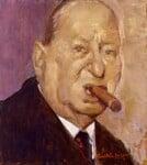 Lew Grade, Baron Grade, by Ruskin Spear, exhibited 1988 - NPG  - © National Portrait Gallery, London