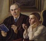 John Maynard Keynes, Baron Keynes; Lydia Lopokova, by William Roberts, signed 1932 - NPG  - © William Roberts Society
