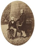 Henry Brougham, 1st Baron Brougham and Vaux; William Ewart Gladstone, by Unknown photographer, late 1850s - NPG  - © National Portrait Gallery, London