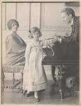 Lady Ottoline Morrell, with Philip Edward Morrell and their daughter, Julian Vinogradoff (née Morrell), by Cavendish Morton, circa 1911 - NPG  - © National Portrait Gallery, London