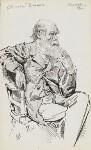 Charles Darwin, by Harry Furniss,  - NPG  - © National Portrait Gallery, London