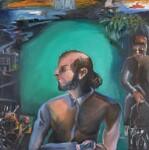 Salman Rushdie ('The Moor'), by Bhupen Khakhar, 1995 - NPG  - © estate of Bhupen Khakhar