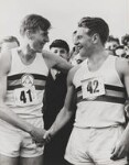 Sir Roger Bannister; Sir Christopher John Chataway, by Central Press, 6 May 1954 - NPG  - © Getty Images