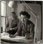 Robin Day; Lucienne Day (née Conradi), by John Gay, circa 1951 - NPG  - © National Portrait Gallery, London