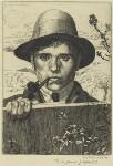 Leon Underwood, by Leon Underwood, 1921 - NPG  - © National Portrait Gallery, London