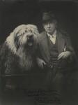 Walford Graham Robertson with his dog Richard Robertson, by John Henry Muddle, 1926 - NPG  - © National Portrait Gallery, London