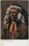 Native American Chief, by Cavendish Morton, printed and published by  Raphael Tuck & Sons, 1903 - NPG  - © National Portrait Gallery, London