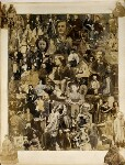 Collage of 101 figures, compiled by Cecilia Mary Jocelyn (née Elliot), after  Disdéri, after  John Jabez Edwin Mayall, after  Camille Silvy, and after  Unknown photographers, 1860s - NPG  - © National Portrait Gallery, London