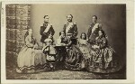 Christian IX, King of Denmark and his family, by Georg Emil Hansen, 1862 - NPG  - © National Portrait Gallery, London