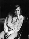 Patricia Highsmith, by Mark Gerson, June 1983 - NPG  - © Mark Gerson / National Portrait Gallery, London
