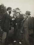 Lytton Strachey; Duncan Grant; (Arthur) Clive Bell, by Vanessa Bell (née Stephen), 1922 - NPG  - © estate of Vanessa Bell courtesy of Henrietta Garnett