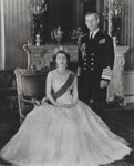 Queen Elizabeth II; Prince Philip, Duke of Edinburgh, by Baron (Sterling Henry Nahum), for  Camera Press: London: UK, 1953 - NPG  - © Baron/Camera Press