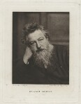 William Morris, by Swan Electric Engraving Co., after  Frederick Hollyer, (1884) - NPG  - © National Portrait Gallery, London