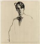 W.B. Yeats, by William Rothenstein, published 1899 (1898) - NPG  - © National Portrait Gallery, London