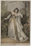 Eliza Chester as Beatrice in 'Much Ado About Nothing', by Alfred Edward Chalon, published 1823 - NPG  - © National Portrait Gallery, London