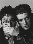 David Baddiel; Frank Skinner, by Trevor Leighton, 1998 - NPG  - © Trevor Leighton / National Portrait Gallery, London
