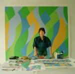 Bridget Riley, by Eamonn McCabe, 2004 - NPG  - © Eamonn McCabe