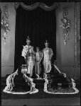 King George VI; Princess Margaret; Queen Elizabeth II; Queen Elizabeth, the Queen Mother, by Hay Wrightson, 12 May 1937 - NPG  - © National Portrait Gallery, London