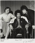 The Experience (Mitch Mitchell; Jimi Hendrix; Noel Redding), by Ian Wright, 2 February 1967 - NPG  - © Ian Wright / National Portrait Gallery, London