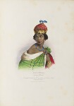 Queen Nzinga Mbande (Anna de Sousa Nzinga), by Achille Devéria, printed by  François Le Villain, published by  Edward Bull, published by  Edward Churton, after  Unknown artist, 1830s - NPG  - © National Portrait Gallery, London