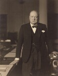 Winston Churchill, by Walter Stoneman, 3pm 1 April 1941 - NPG  - © National Portrait Gallery, London