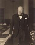 Winston Churchill, by Walter Stoneman, 3pm 1 April 1941 - NPG  - © National Portrait Gallery, London