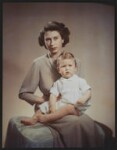 Queen Elizabeth II; Prince Charles, by Marcus Adams, 26 October 1949 - NPG  - © estate of Bertram Park / National Portrait Gallery, London