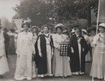Suffragette March in Hyde Park, by Mrs Albert Broom (Christina Livingston), 23 July 1910 - NPG  - © National Portrait Gallery, London