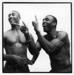 Colin Jackson; Linford Christie, by Jillian Edelstein, 1993 - NPG  - © Jillian Edelstein / Camera Press