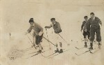 Nelson Waite Keys with a group of friends skiing, by Unknown photographer, late 1910s - NPG  - © National Portrait Gallery, London