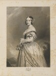 Queen Victoria, by François Forster, published by  Sir Francis Graham Moon, 1st Bt, after  Franz Xaver Winterhalter, published 1 May 1847 - NPG  - © National Portrait Gallery, London