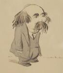 Theodore Watts-Dunton, by Sir Henry Maximilian ('Max') Beerbohm,  - NPG  - © estate of Max Beerbohm
