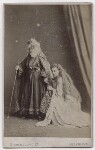William Wybert Rousby as King Lear; Clara Marion Jessie Rousby (née Dowse) as Cordelia in 'King Lear', by London Stereoscopic & Photographic Company, 1873 - NPG  - © National Portrait Gallery, London