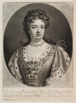 Queen Anne, by and published by John Smith, after  Sir Godfrey Kneller, Bt, 1715-1724 - NPG  - © National Portrait Gallery, London