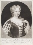 Caroline Wilhelmina of Brandenburg-Ansbach when Princess of Wales, by and published by John Smith, after  Sir Godfrey Kneller, Bt, 1717 (1716) - NPG  - © National Portrait Gallery, London