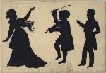 Sarah Siddons (née Kemble); (William Grattan) Tyrone Power as Dr O'Toole in 'The Irish Tutor'; (William Grattan) Tyrone Power, by Augustin Edouart, 12 August 1832 - NPG  - © National Portrait Gallery, London