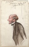 John Stuart Mill, by Sir Leslie Ward, study for drawing published in Vanity Fair 29 March 1873 - NPG  - © National Portrait Gallery, London